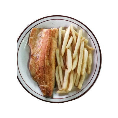 Filete de Trucha con Papas Fritas